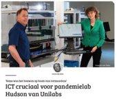 ICT cruciaal voor pandemielab Hudson van Unilabs
